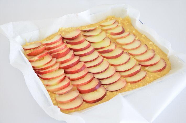 plaattaart met perzik