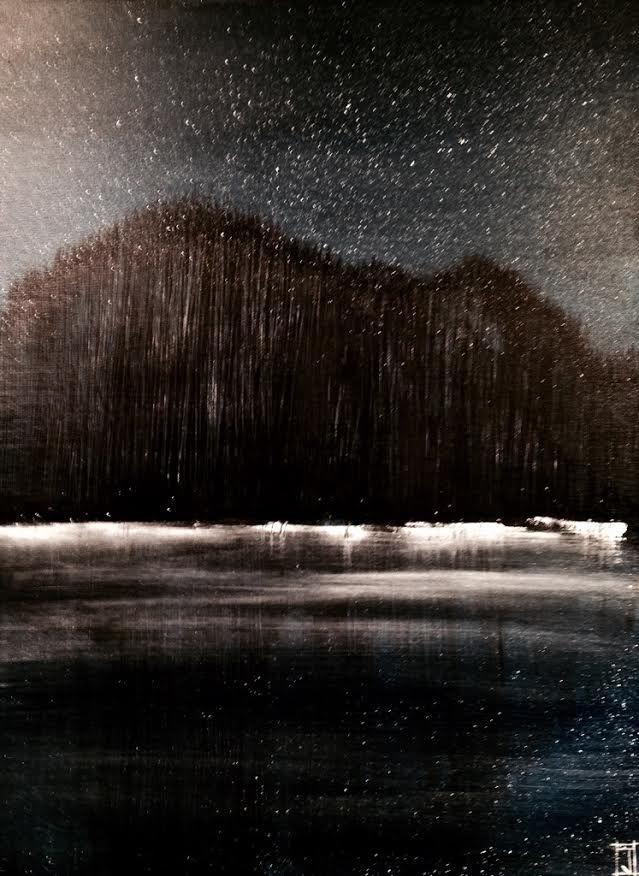 Jukka Tuominen Starry sky-15 akryyli kankaalle 50x70
