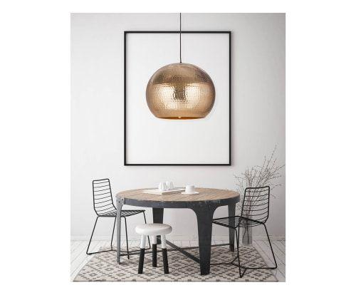 Lámpara de techo Bell, champán - Ø47 cm
