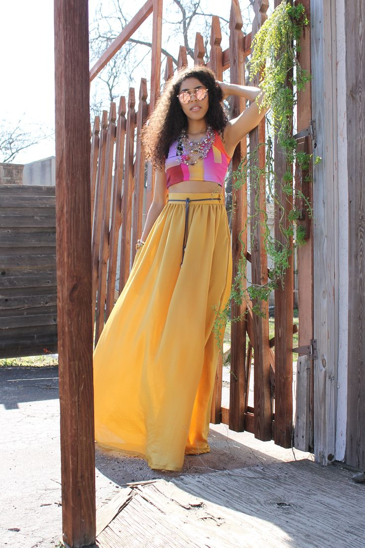 17 best ideas about yellow maxi skirts on