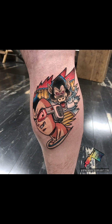 Dragonball z vegeta tattoo dragon ball tattoo nerd