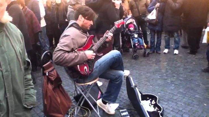 """Street guitarist (Marcello Calabrese) plays Stairway To Heaven ~ """"that's pretty damn cool""""  ~._*G*_.~"""