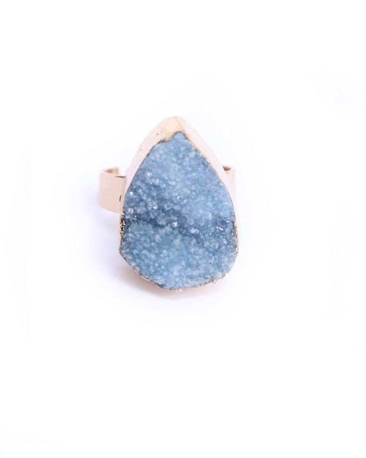 Druzy Color Natural stone Ring