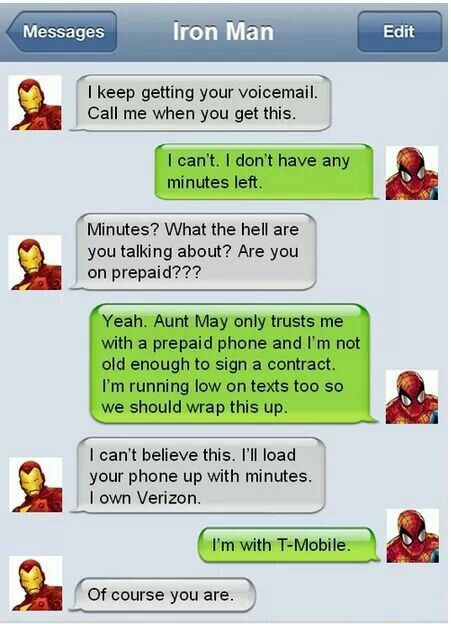 Superhero texts.
