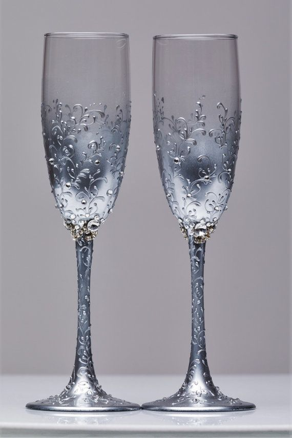 Mejores 181 im genes de tazas y vasos en pinterest frascos decorados copas decoradas y - Flutes a champagne originales ...