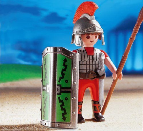 Playmobil Roman Warrior by Playmobil. $17.99. Special Limited Edition now Retired. Roman Centurion Warrior Leader. Battle Shield. Playmobil Roman Warrior. 4 Years +