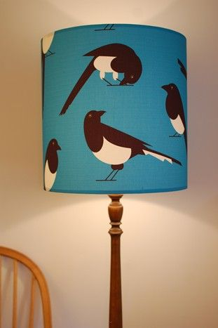 large magpie lampshade