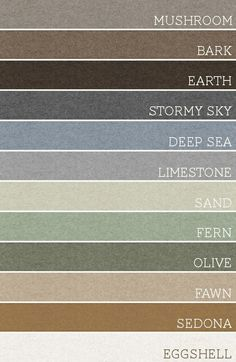 Take any set of 3 of these colors and each room would be amazing. A palette for the whole house. @ Pin Your Home
