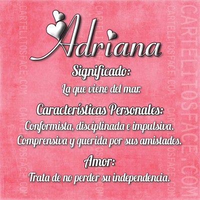 Adriana | Significados de los nombres, Nombres bíblicos y ...