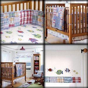 Crib Bedding Fish Creative Ideas Of Baby Cribs Madras Nursery Potterybarnkids