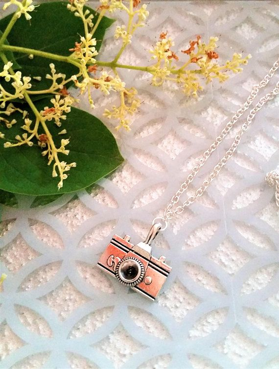 Camera photography necklace  camera charm pendant necklace