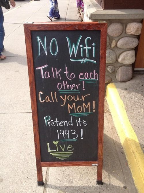 Sign in front of a café in Jasper, Alberta, Canada
