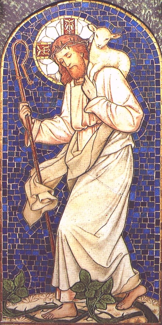 "The Good Shepherd - as per our Gospel readings for today and yesterday  - Lent Wk. IV - in fact, the fourth Sunday of Lent is called ""Good Shepherd Sunday"" because of the Gospel"
