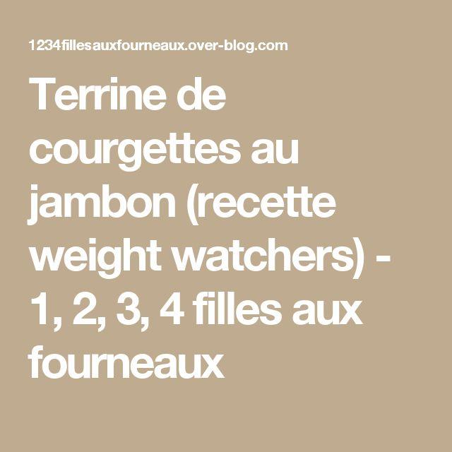 Terrine de courgettes au jambon (recette weight watchers) - 1, 2, 3, 4 filles aux fourneaux
