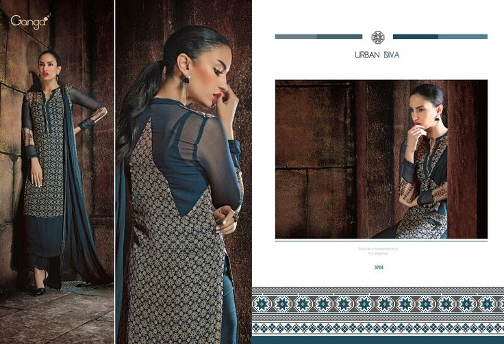 ★ URBAN DIVA ★ CATALOG 562 ★ SEDUCTIVE BAMBERG CHIFFON COLLECTION FROM AUTHENTIC MANUFACTURER GANGA FABRICS. SUITS ARE SEMI STITCHED, ABSTRACT PRINT WITH QUALITY SANTOON & DUPATTA. EACH DRESS CAN BE AVAILABLE AT 4,999 TK.
