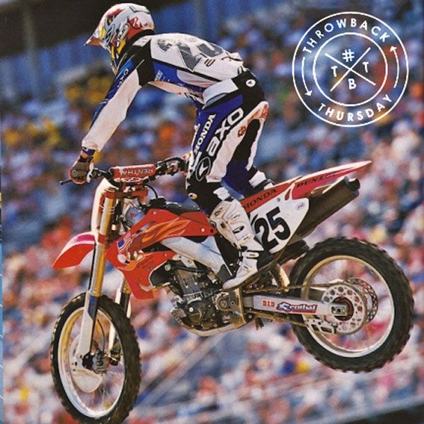 #TBT to 2002 with #NateRamsey during a supercross run while rocking #AXO gear! #throwbackthursday #axoracing