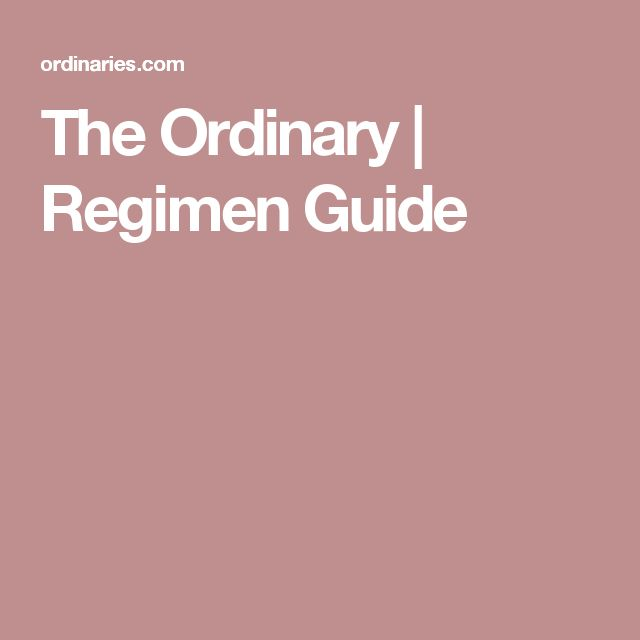 The ordinary skincare regimen for acne