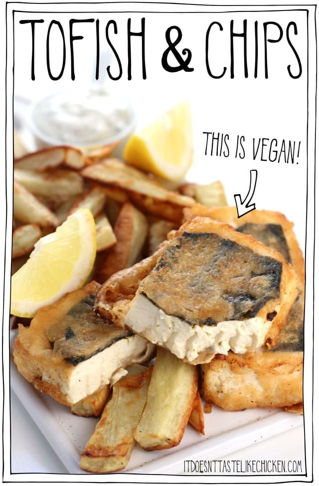 Tofish And Chips Vegan Fish And Chips Recipe Vegan Fish And Chips Vegan Fish Recipes