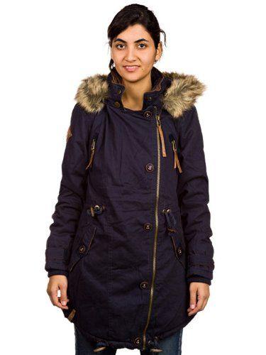 Amazon.com: Naketano Take Over II Jacket Womens Jacke Winterjacke Girls Damen(Dark Blue,L): Clothing