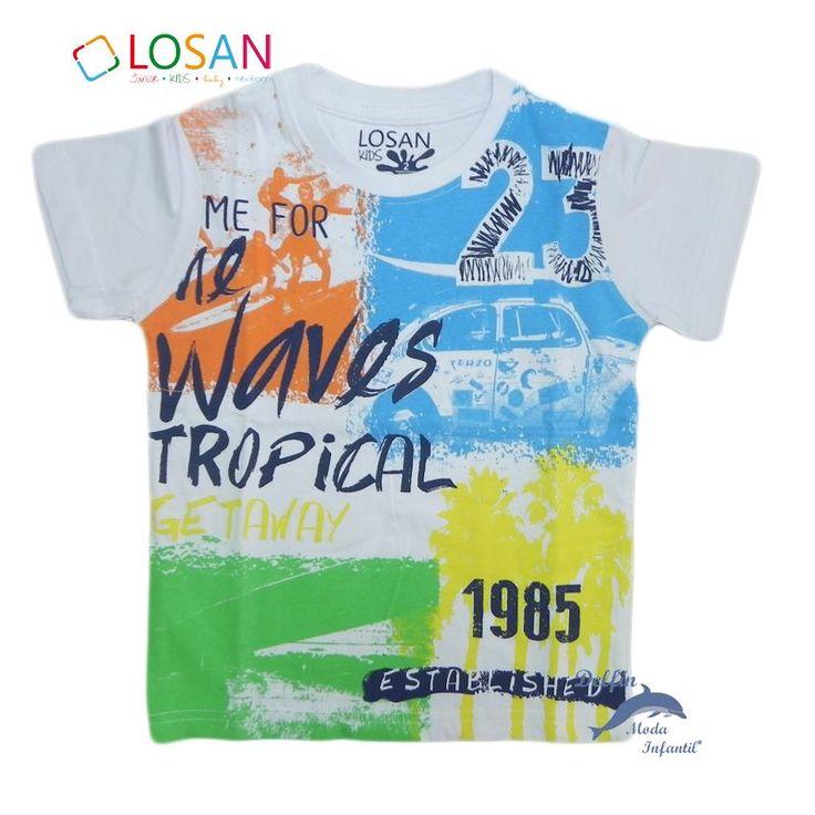 Camiseta de niño LOSAN manga corta multicolor