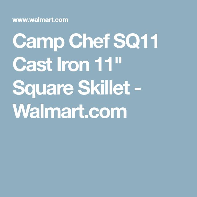 "Camp Chef SQ11 Cast Iron 11"" Square Skillet - Walmart.com"