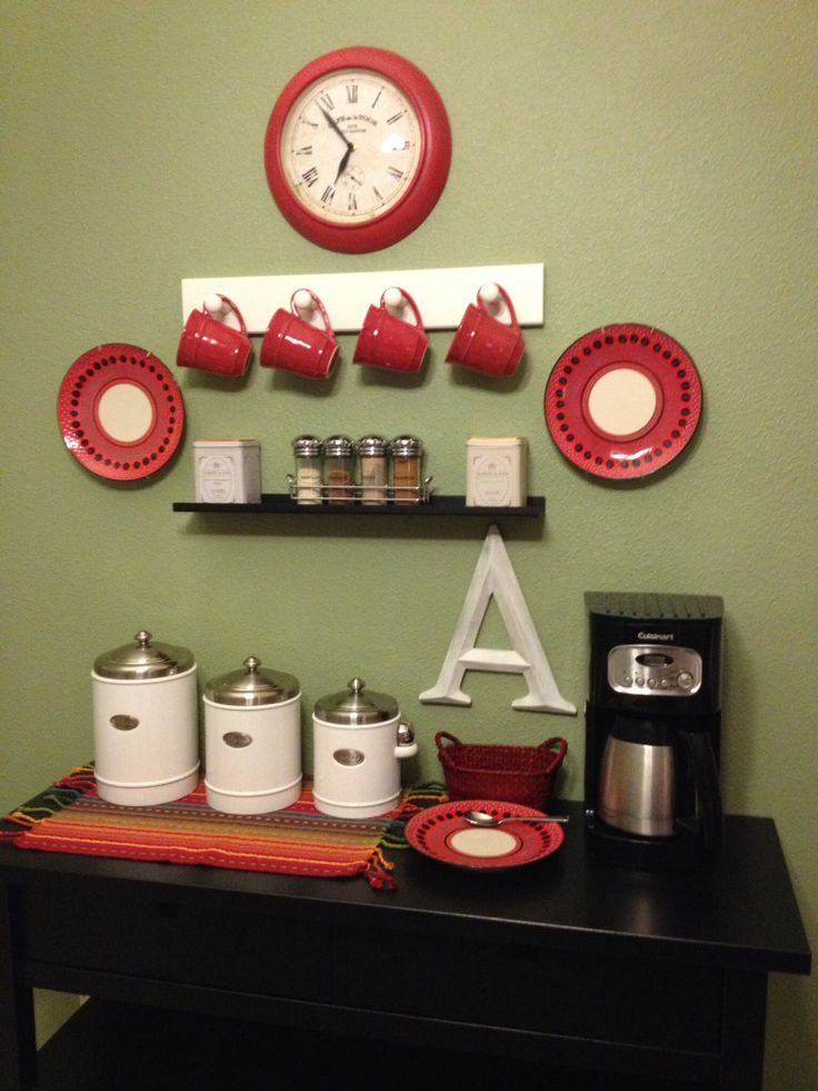 coffee station bar - Coffee Kitchen Decor Ideas