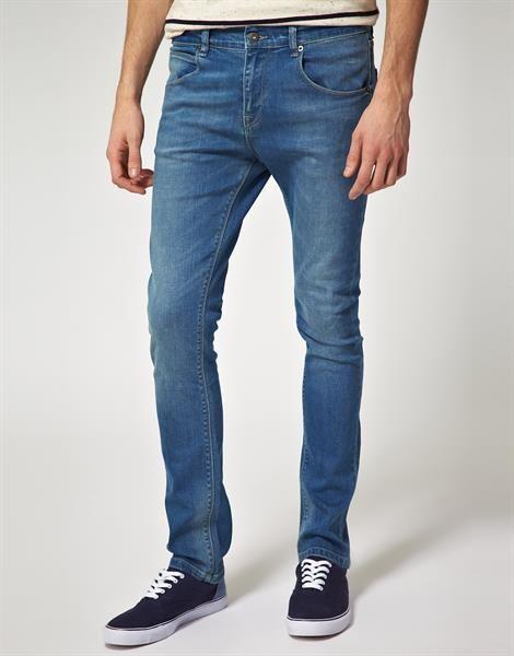 Сильно зауженные мужские джинсы