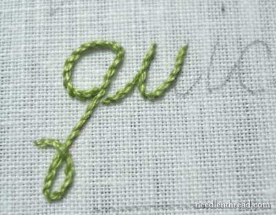 Cursive hand embroidery tutorial from Needle N Thread!