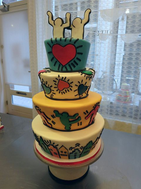 Keith Haring Wedding Cake by CAKE Amsterdam - Cakes by ZOBOT, via Flickr