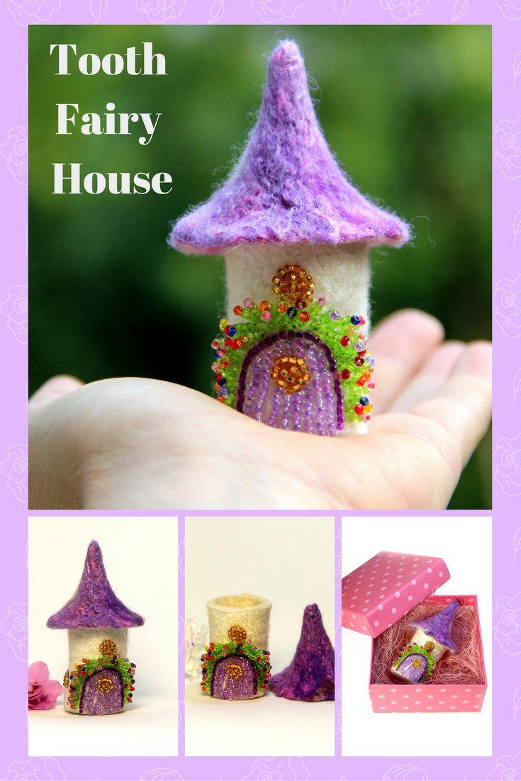 Tooth Fairy House Box Gift Miniature Fairy Garden House Home