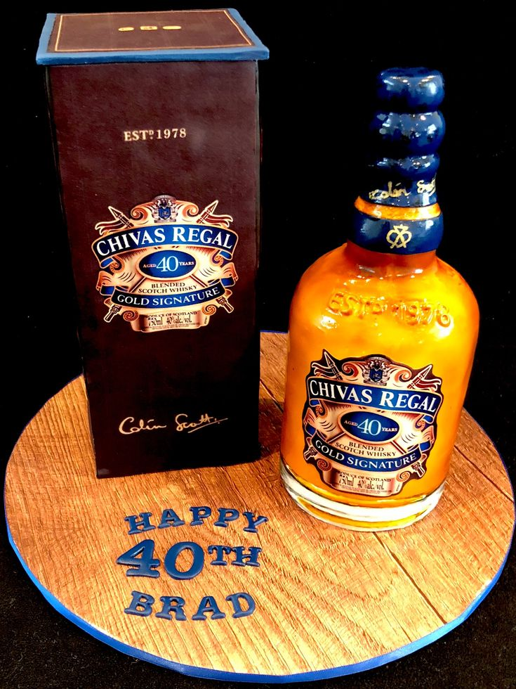 Chivas Regal whisky bottle and box cake  Made with 🧡🥃@edible_magic