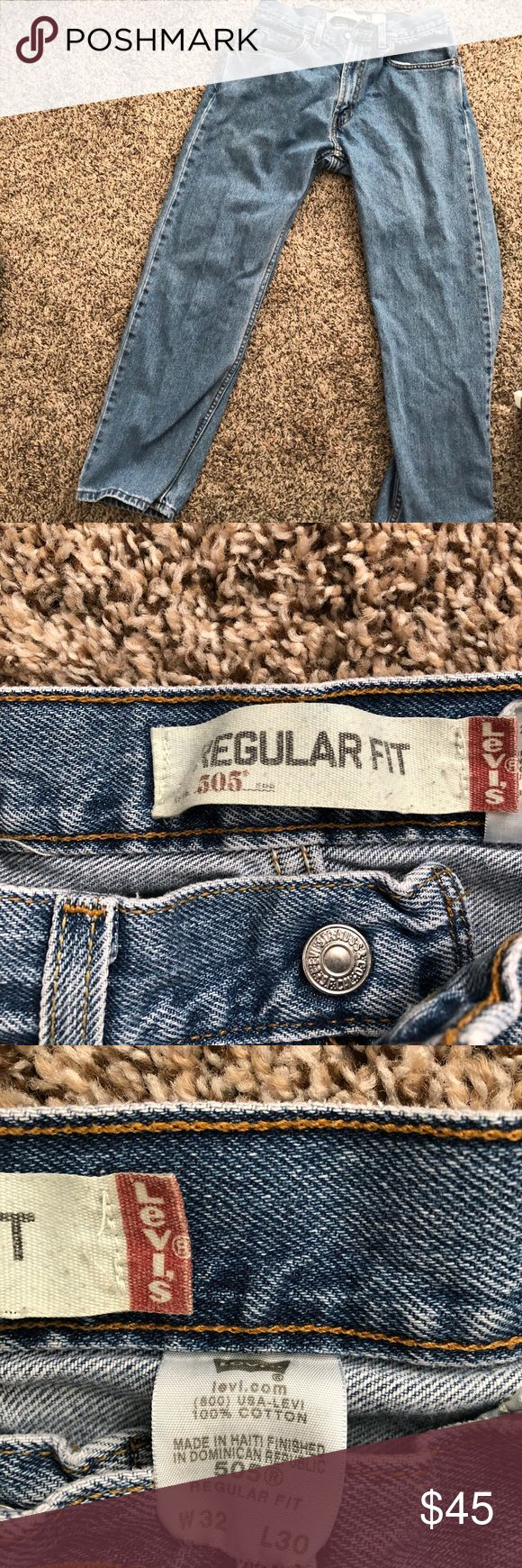 Vintage Levi 505 jeans Super rare and cute vintage Levi's 505 jeans relaxed fit waist says 32 but measures at a 30 Levi's Jeans