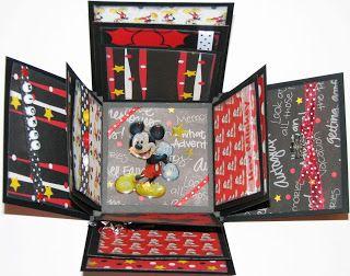 The Avid Scrapper: Scrapbook Explosion Gift box - Disney inside FE idea