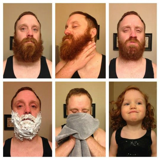 Extreme Before And After Shave. (Aka why my husband is never allowed to)