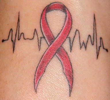 Heart disease tattoo