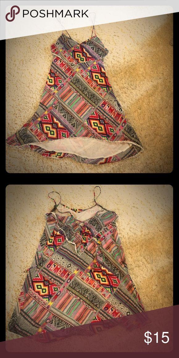 Large patchwork summer dress Cheap bundles!! Anthropologie Zara lulu's lulus Victoria's Secret Victoria Secret cover up urban outfitters bikini maxi blouse tunic Free People Dresses Mini