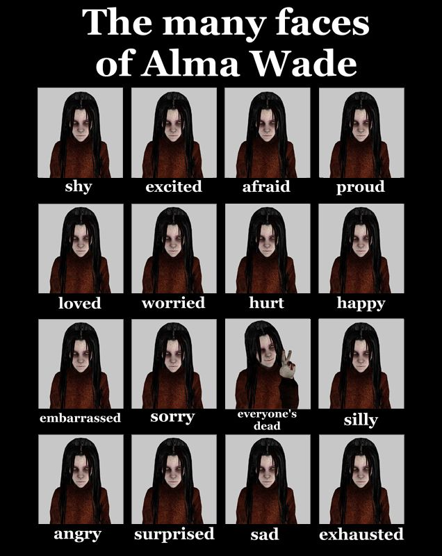 Alma Wade Expressions by lkhrizl on deviantART