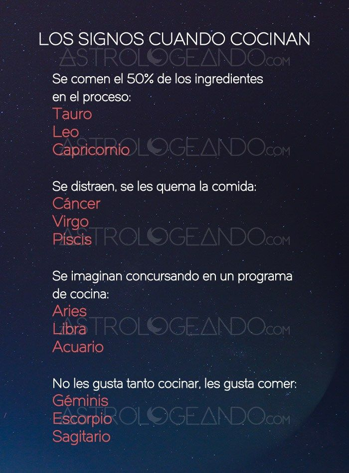Los signos cuando cocinan #Astrología #Zodiaco #Astrologeando