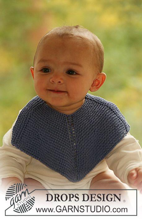 """DROPS bib in garter st in """"Safran"""". ~ DROPS Design...FREE PATTERN"""