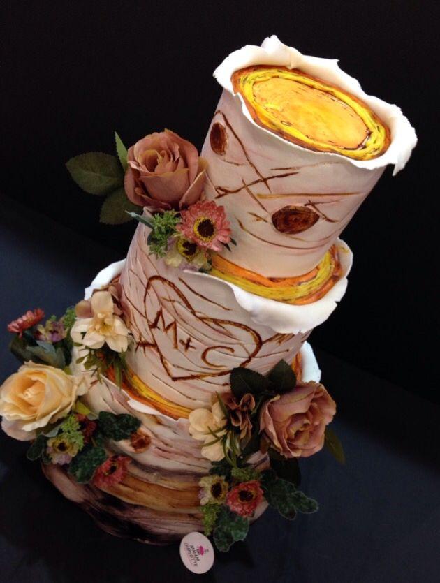 Wooden Wedding Cake