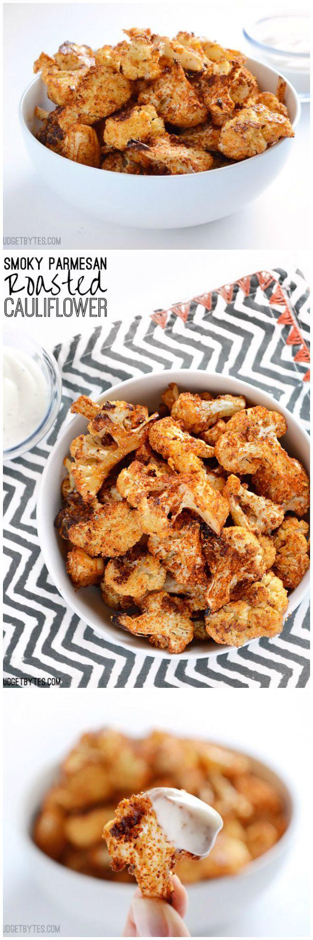 Smoky Parmesan Roasted Cauliflower - BudgetBytes.com