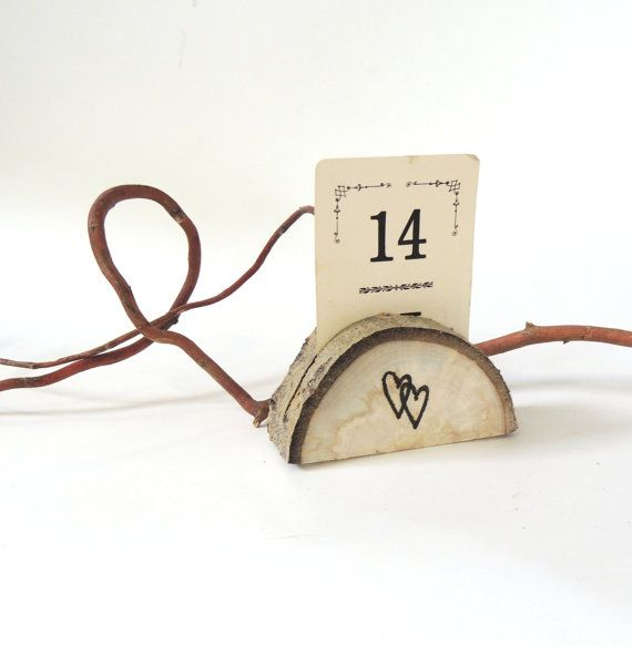 two hearts wood placecard holders 50 reclaimed aspen vaniteaz