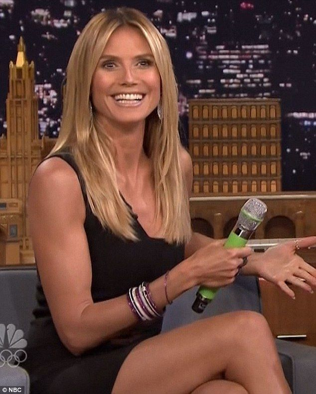 The punisher: Heidi Klum revealed she likes to discipline fellow AGT judge Simon Cowell when he's naughty when she appeared on The Tonight Show on Tuesday