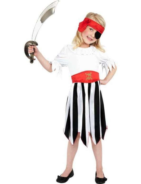 Costume fille pirate - 4-6 ans - Pirate Fille - Filles - Enfant - Accessoires de…