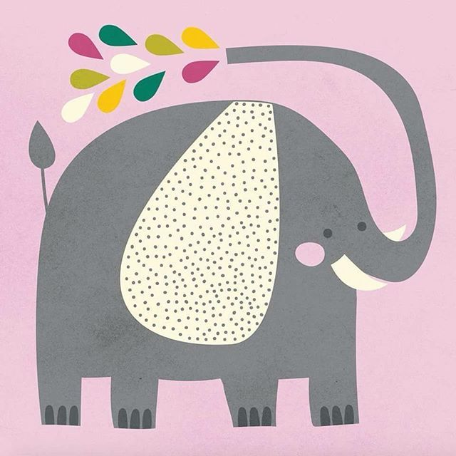 Elephant character illustration by Alice Potter Illustration  www.alicepotter.co.uk