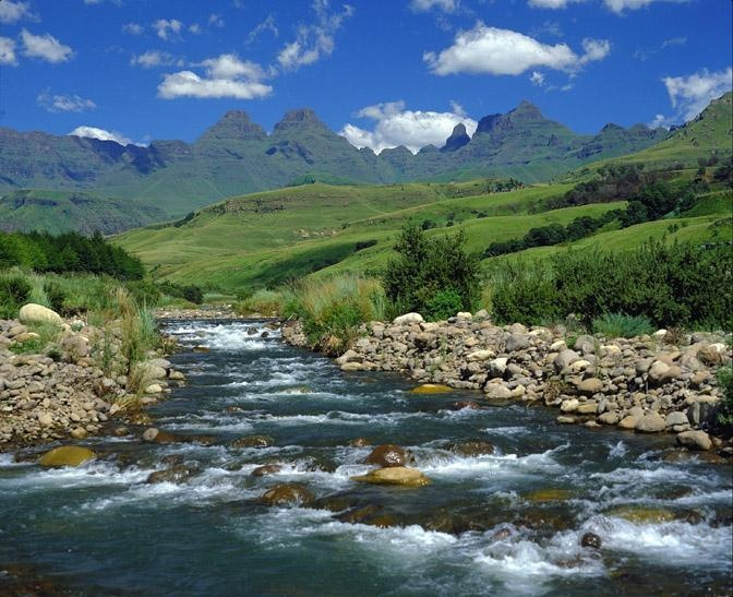 Cathedral Peak Hotel. Drakensberg Mountains, South Africa.