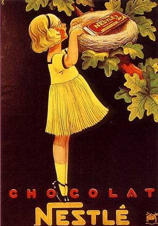 Chocolat Nestle Poster by Affiches Publicite at Barewalls.com