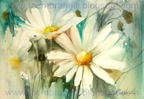 Daisies IX / Margaridas IX, painting by artist Fabio Cembranelli