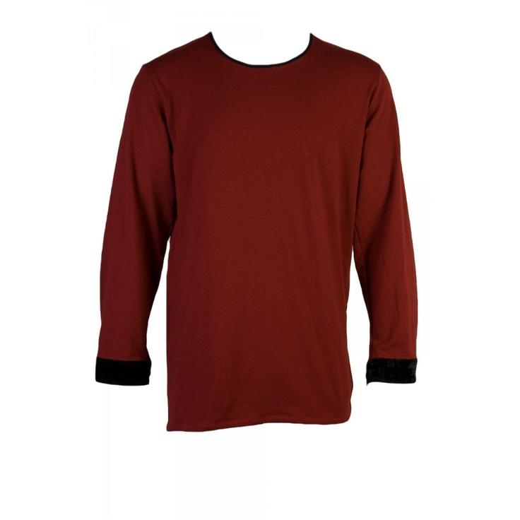 $139 gus long sleeve pleat tee / maroon / s-xl #superettegetthelook