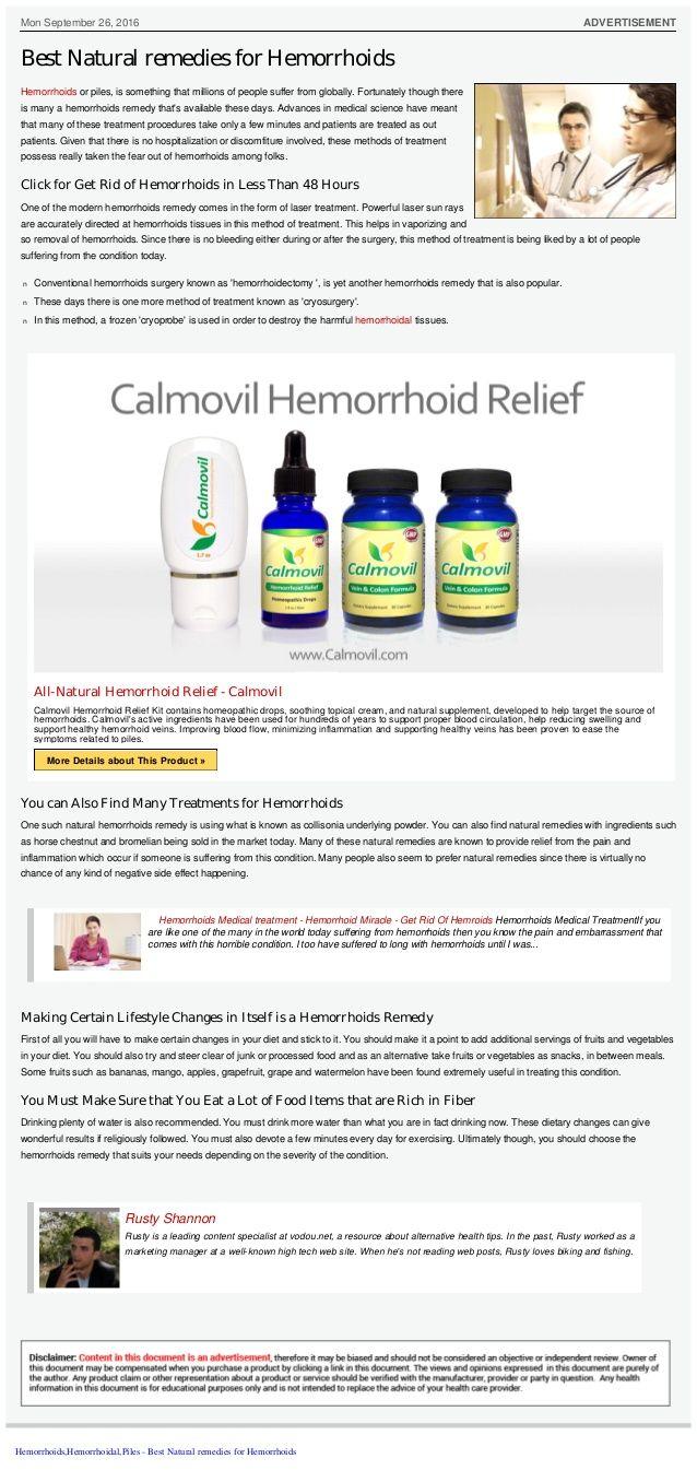 Le 25 migliori idee per la cura delle emorroidi su Pinterest Natural-6215